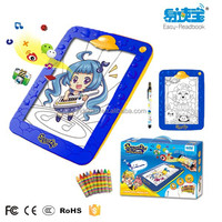 Children coloring set, coloring stand 220 x 202 x 23mm,color changing led stand