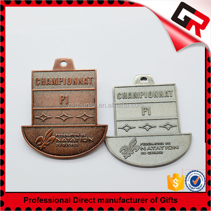 Customized design logo taekwondo sport medal with ribbon