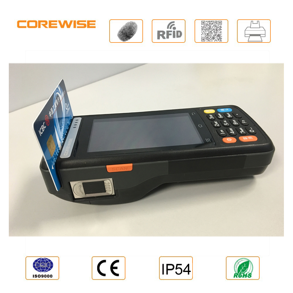 Mobile POS terminal touch screen MSR contactless magnetic stripe reader