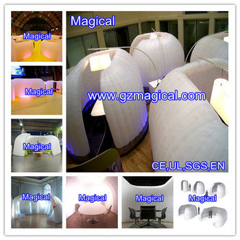 Inflatable office tent in a bag with led/party tent
