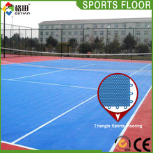 CE Standard Quality guarantee pp interlocking outdoor tennis court rubber flooring