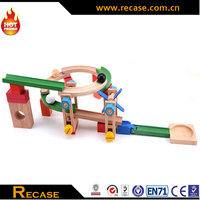 Wholesale Educational Toy Wooden Roller Coaster Track Blocks Set