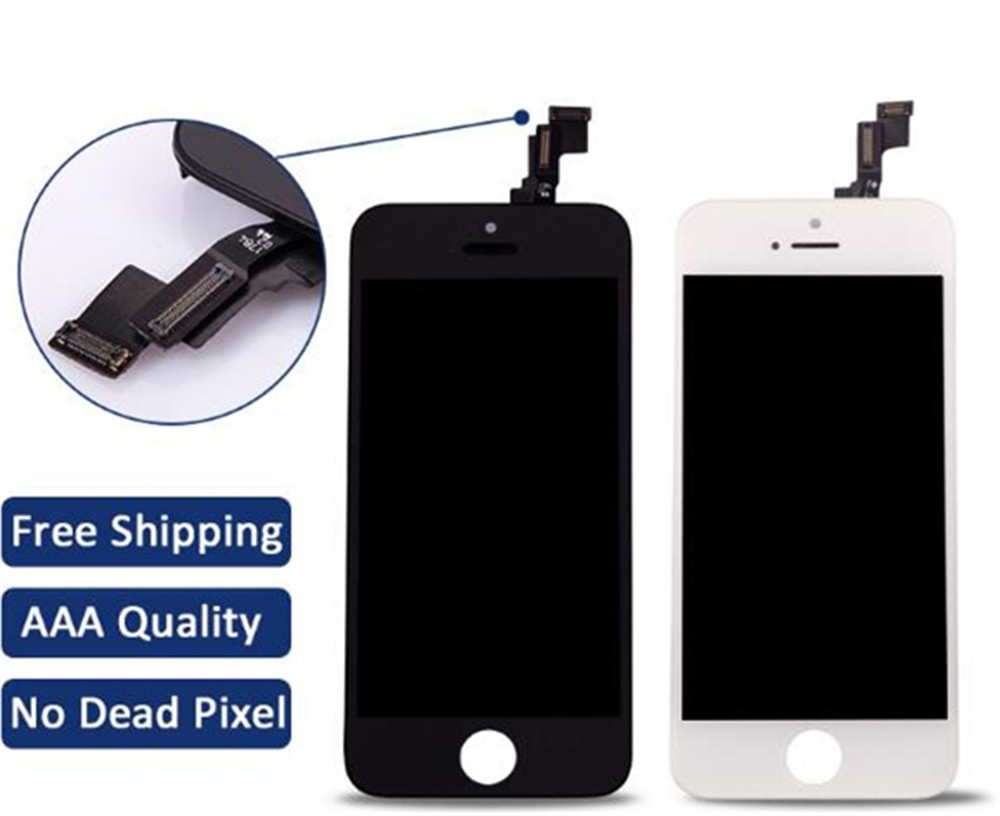 White or black cheap best price LCD Display Touch Screen Digitizer Assembly Replacement for iPhone 5S lcd OEM