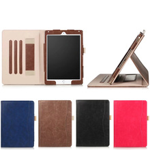 High Quality Retro Style Pure Color Leather Protective Case for iPad Pro 9.7 2017