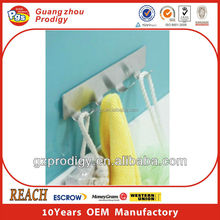 Stainless steel adhesive kitchen cabinet hanger