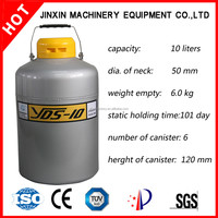 YDS-10 liquid nitrogen container/small capacity liquid nitrogen/liquid nitrogen container used