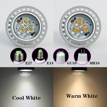 Bright 4W/5W/6W/8W LED Spotlight Bulb GU10 E27 MR16 Warm/Day White