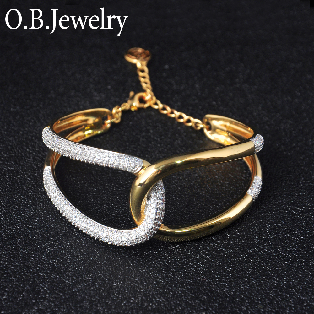 Luxurious 925 Sterling Silver Bride Jewelry With 24K Gold Plated