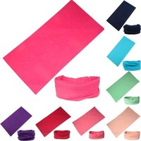 Hot Sale Wholesale Cheap Outdoor Magic Scarf for ATV/UTV riding Seamless Tube Bandanas High Elastic Headband with UV Resistance