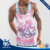 Guangzhou shandao digital printing with plant pattern 120g O-neck sleeveless 95% cotton 5% Spandex tank tops men