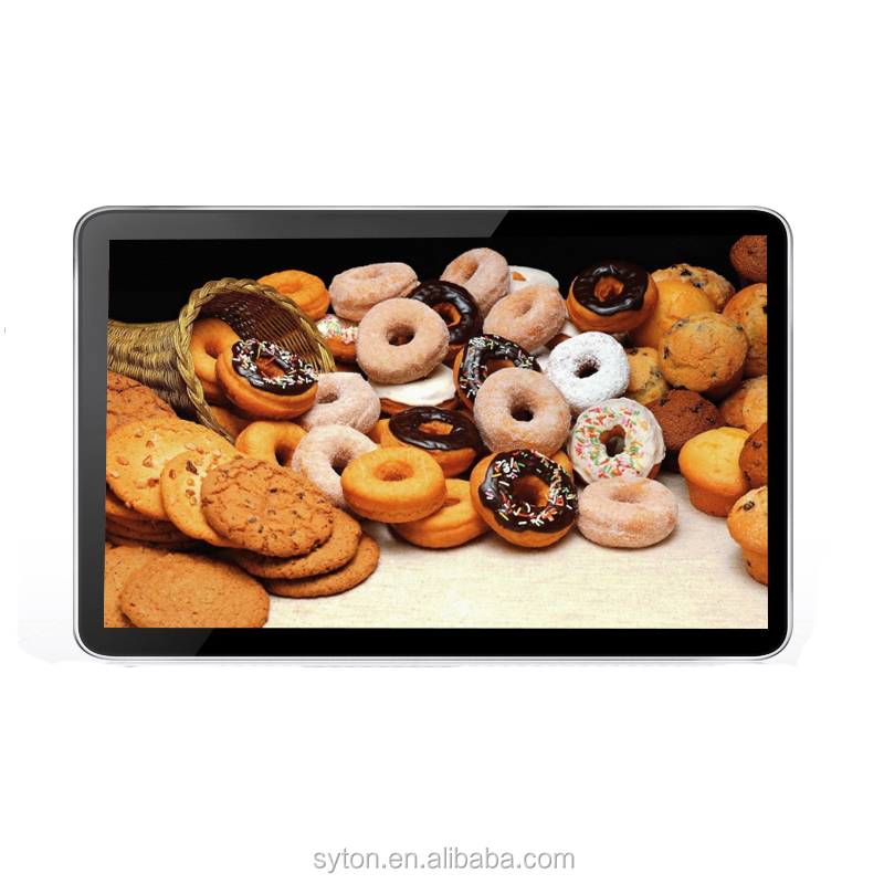 17 inch touch screen full hd wall mount ad player