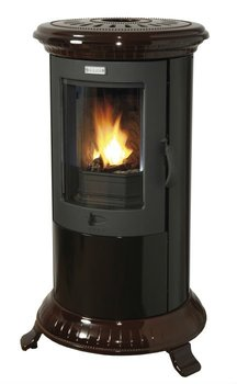 Petit godin 377111 brown buy cast iron stove product on for Petit poele a bois rectangulaire
