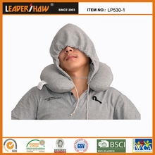 Promotional Beads Filling U Shaped Hoodie Travel Pillow/Soft Pillow Case