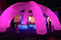 Led Inflatable Tubular Dome tent 15m W x 7m H, nightclub decoration inflatable