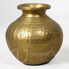 Modern metal sculpture metal crafts bronze round brass lota for home use