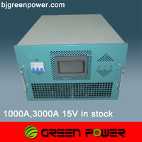 Europe quality 3000A 12V water cooling size zinc plating machine used rectifier