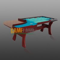 96-Inch Casino Deluxe Roulette Table With Wood Legs