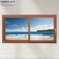 Minye new brand pvc double glass sliding reception windows