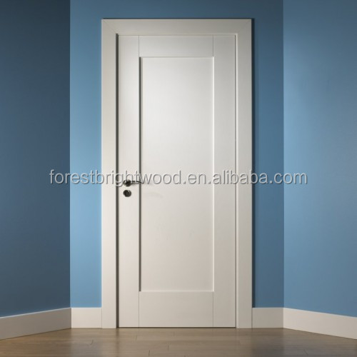 White Primed Prehung 1 Panel Shaker Doors Interior for Projects
