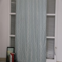 Wholesale American bedroom jacquard curtain fabric for ready made grommet drapery