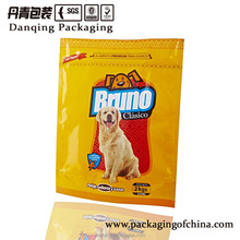China DQ PACK customized plastic packaging stand up pouch for pet food bag