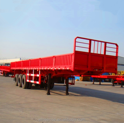 High Quality 3 Axles 60 Tons Side Wall Semi Trailer Hot Sale