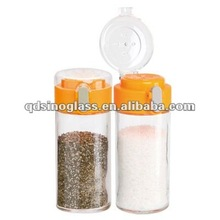 SINOGLASS Spring Up lids glass salt and pepper shakers