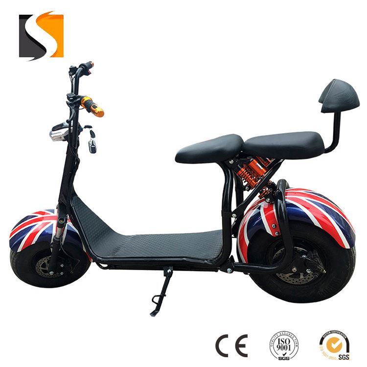 High quality 60v/12ah battery electric scooter city coco eec motorcycle scooter citycoco with CE EMC