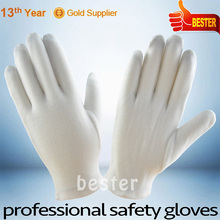 10% COTTON 90% POLYESTER hot seller factory supply white cotton glove knitted