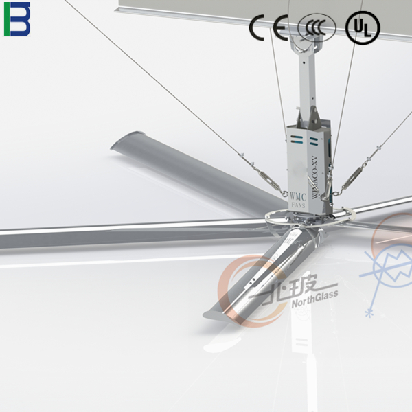 5 blades 220V/380V HVLS ventilation fan for workshop in China