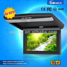 9/10 inch supper slim hd flip down dvd player+SD card+IR transmitter+2 way video inputs+remote control