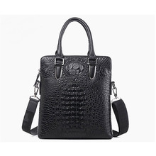 Korean Fashion Branded Crocodile Texture Leather Cross Body Bag Men