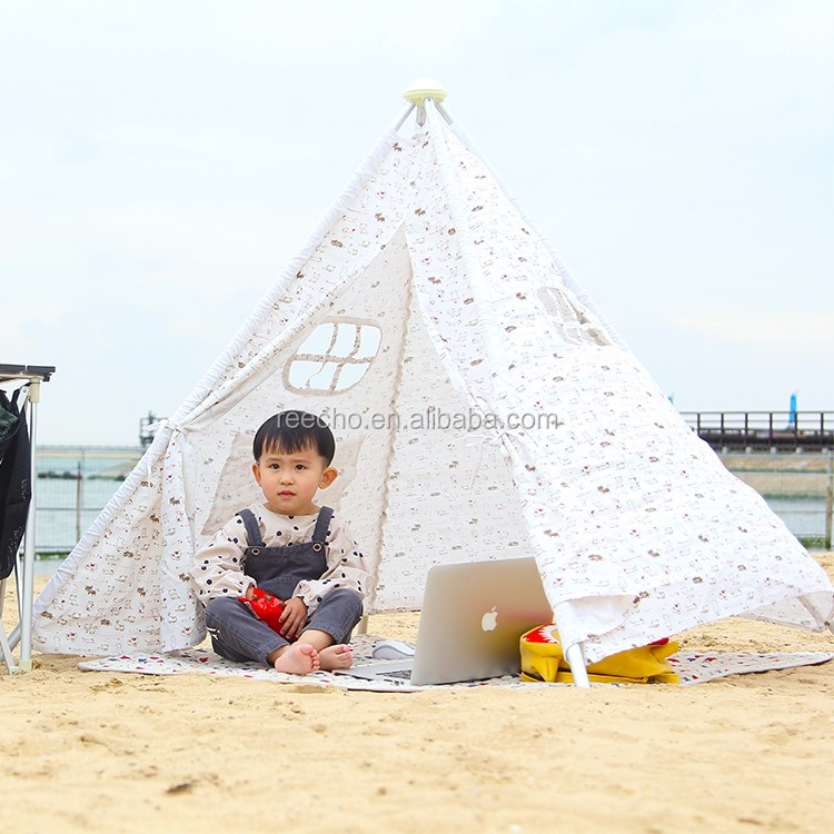 Soft Cotton Canvas Children Play Camping Roof Top Tent
