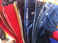 Used Man blue Jean Pants original second hand clothes