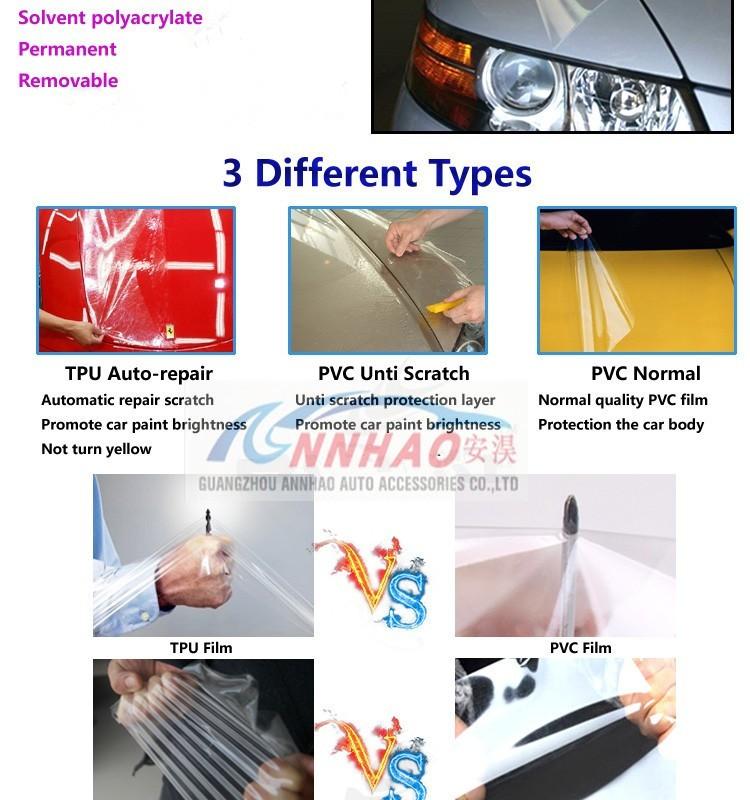 Annhao auto repair transparent tpu car paint protection for Car paint protection film cost