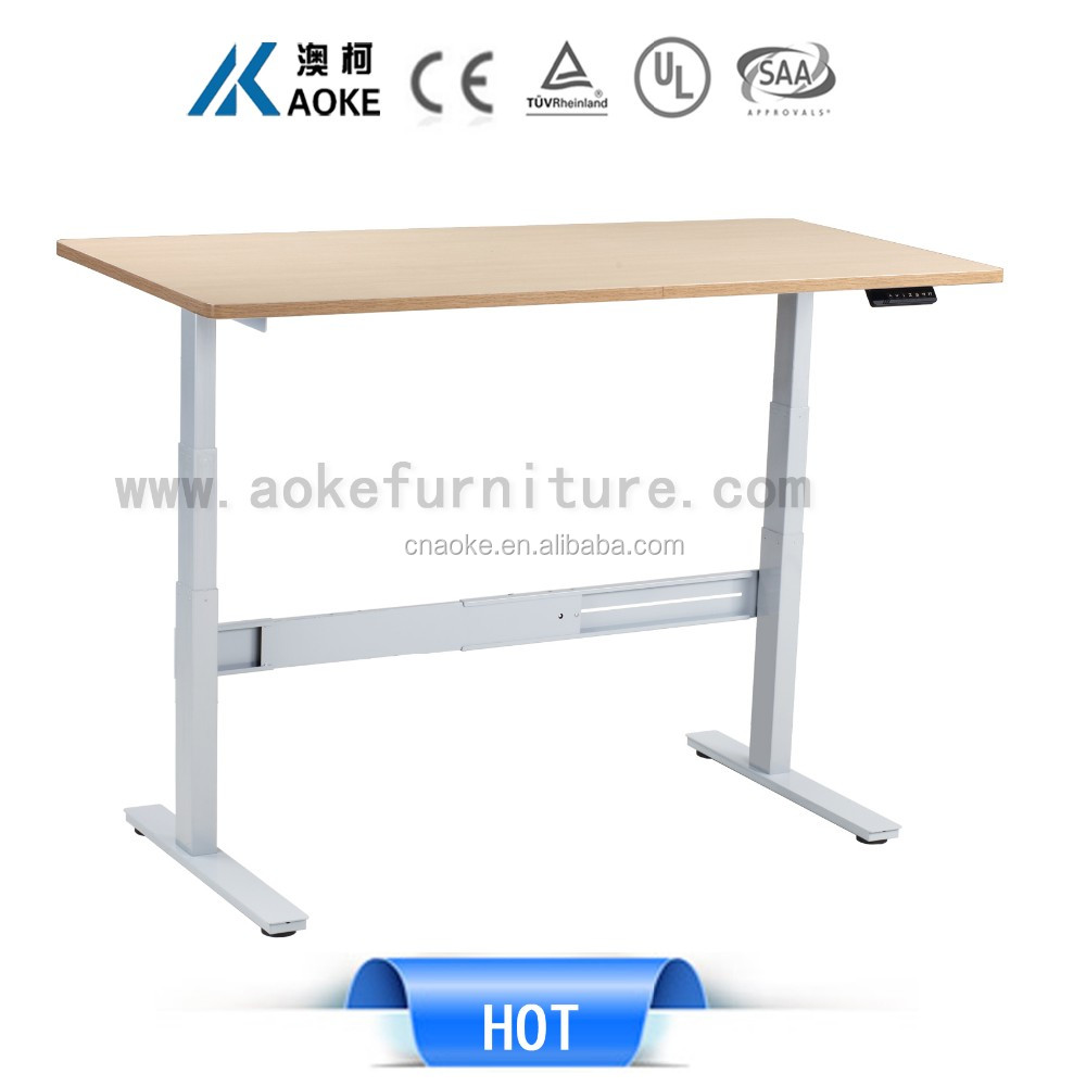 Office home electric height adjustable stand desk frame computer table comfort