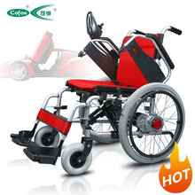 2016 hot sell foldable power wheelchair with motor controller and battery electric wheelchair