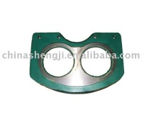 Putzmeister eye-glasses plate for concrete pump truck