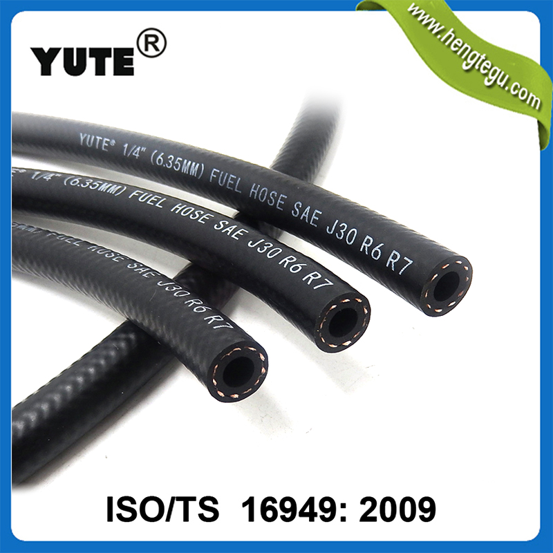 Hot China products oil resistant black rubber pvc 6mm fuel hose