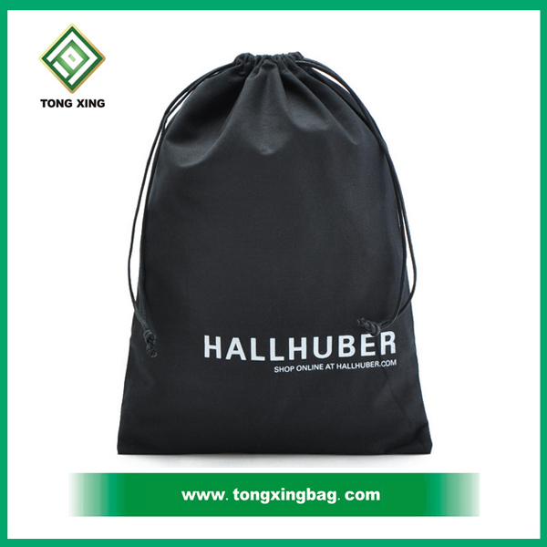 2015 cheap 75g black non woven custom drawstring bags