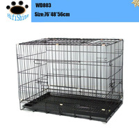 2016 folding large dog cage cover trolley foldable