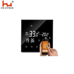 Smart Wifi 5+2 Days Programmable Black Backlight Warm Thermostat for Floor Heating