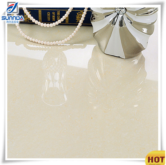 24x24 non slip anti-scratch polished porcelain floor tiles with crystal look with 9 thickness