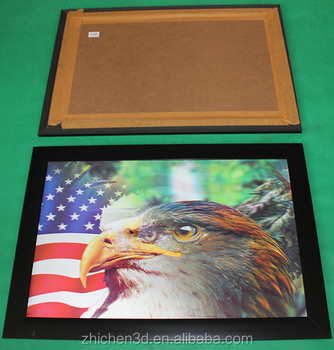 3d lenticular picture with frame