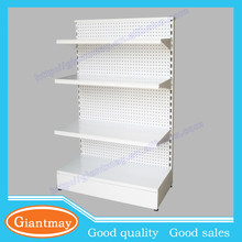 double sides retail metal white goods floor standing display stand board for shop