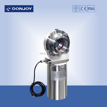 Piston sanitary male pneumatic butterfly valve with positioner