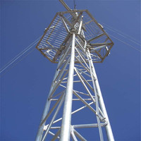 Self supporting steel ham radio tower