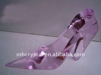 Pink Crystal High heels Crafts,crystal shoes MH-G0185