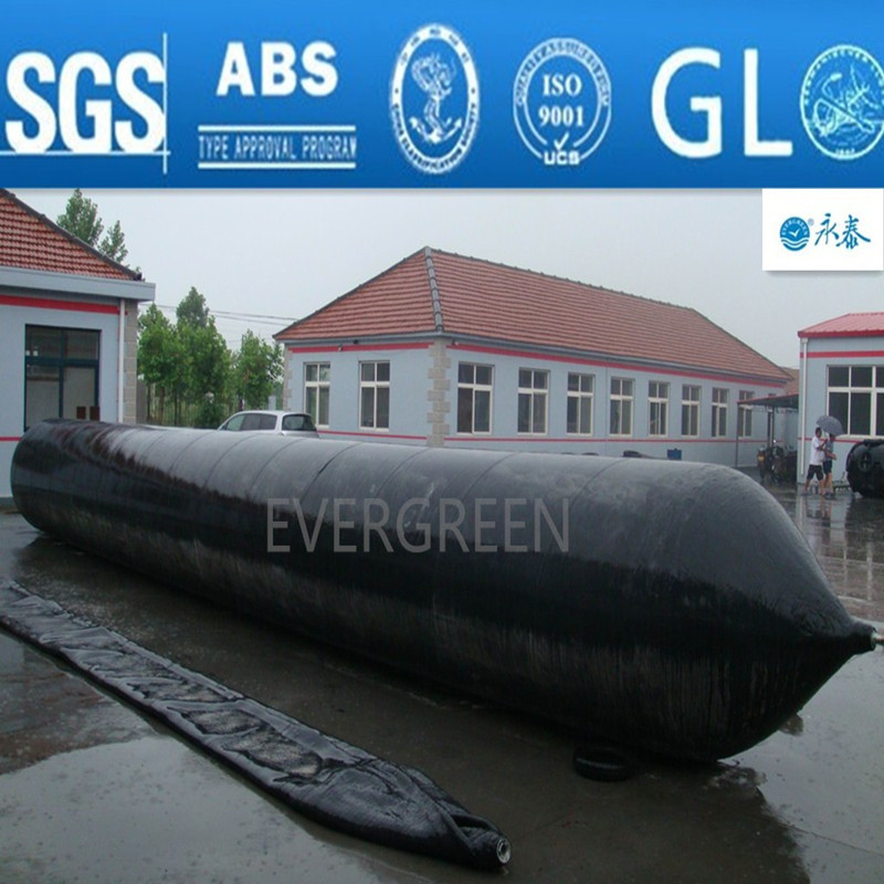 strong bearing capacity ship launching/landing/lifting/salvage pneumatic marine rubber airbag for boats or heavy construction