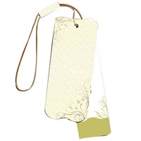Factory direct kraft paper hang tag with eyelet